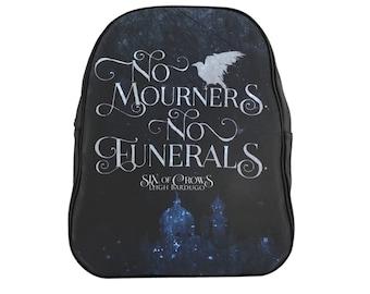 Six of Crows Backpack, No Mourners No Funerals, Kaz Brekker, Grishaverse, Bookish Backpack, Crooked Kingdom, Inej Ghafa, Leigh Bardugo