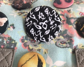 Shadowhunter Button, Runes, Angelic Rune, Mortal Instruments, Infernal Devices, Dark Artifices, Jace Herondale, Jem Carstairs, Bookish Badge