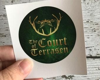 Terrasen Sticker, Throne of Glass Gifts, Aelin Ashryver Galathynius, Rowan Whitethorn, Aeidon Ashryver, Kingdom of Ash Merch, Sarah J Maas