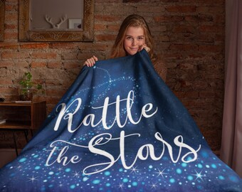 Rattle the Stars Blanket, Throne of Glass, Sarah J Maas, Aelin, Rowan, Dorian, Kingdom of Ash, Sherpa Fleece Blanket, Large 50x60 Inches