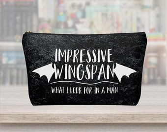 Wingspan Bag, Rhysand, Cassian, Azriel, ACOTAR Wingspan, Mist and Fury, Thorns and Roses, Sarah J Maas, Rhysand Wisgspan, ACOMAF, Makeup Bag
