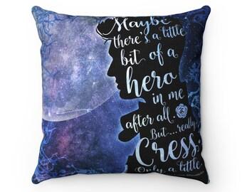 Thorne Lunar Chronicles Pillow Case, Cress, Cresswell, Cress and Thorne, Marissa Meyer