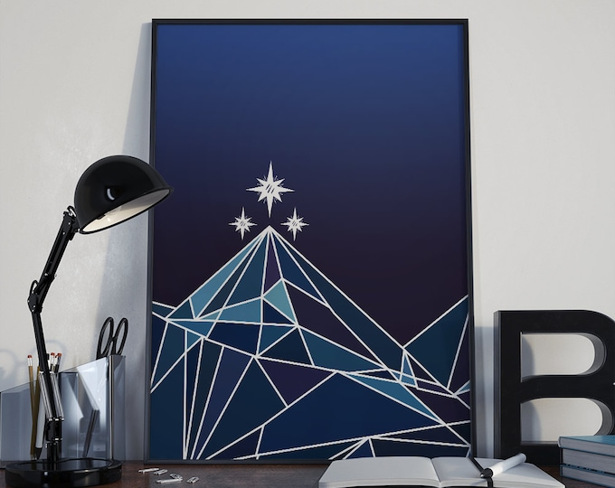Night Court ACOMAF Poster, A Court of Thorns and Roses, ACOTAR Print, Court of Dreams, Rhysand, Feyre, Night Court Logo, Sarah J Maas