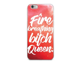 Throne of Glass Phone Case, Fire Breathing Bitch Queen, Bookish Phone Cases, Aelin Galathynius, Sarah J Maas Gifts, Queen of Shadows