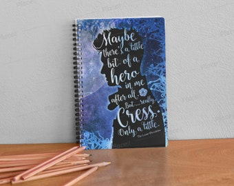 The Lunar Chronicles, Thorne, Captain Thorne, Carswell, Cress, Notebook, Bookish Notebook, Book Quote