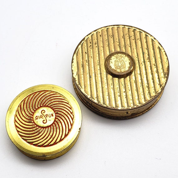 Vintage Makeup Compact Lot of 2 Coty Rouge Cosmeti