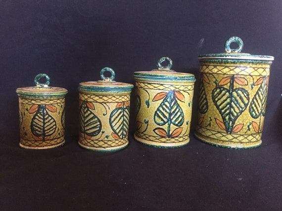 Vintage Italian Kitchen Canisters