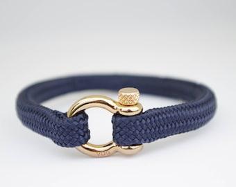 NAVY BLUE & gold | Sailing bracelet - Custom and Handmade
