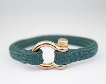 DARK GREEN & gold | Sailing bracelet - Custom and Handmade