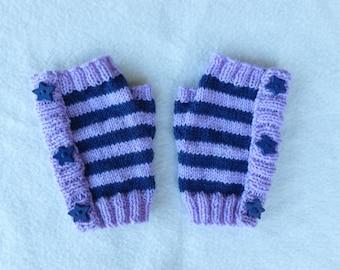 Childs Fingerless Gloves/Girls Fingerless Gloves/Kids Fingerless Gloves/Wool Fingerless Gloves/Australian Seller/Wool Gloves/Paula's 1 offs
