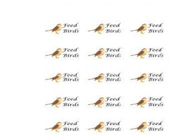 Feed Birds / Planner Stickers / Deco / Happy Planner / EC Vertical