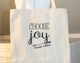 Choose Joy Tote Bag - Tote Bag with Choose Joy