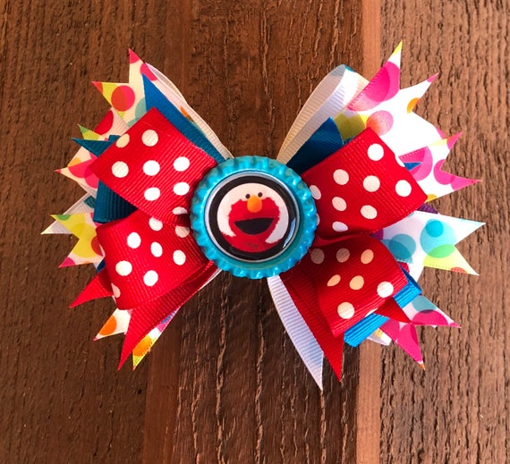 Elmo sesame street Hair Bow