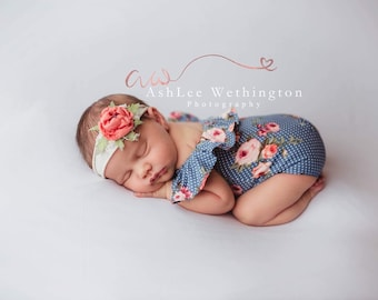 c2bd2d8f935a Newborn Romper, Newborn Girl Photo Outfit, Newborn Girl Photography Prop,  Newborn Photo Outfit, Newborn Photo Prop, Baby Girl Romper,