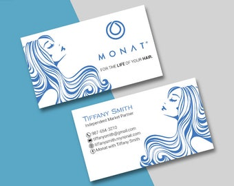 Business cards etsy monat business card custom monat business cards fast free personalization custom monat hair care card mn02 reheart Gallery