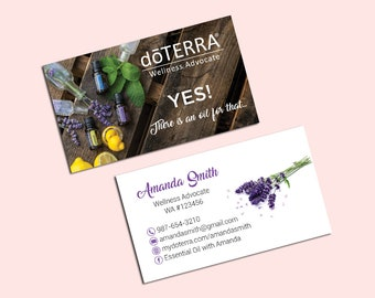 Doterra Business Cards Etsy