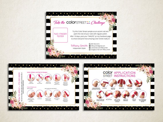 """Personalized /""""Color Street/"""" Towsie Sample Card 30 Set"""