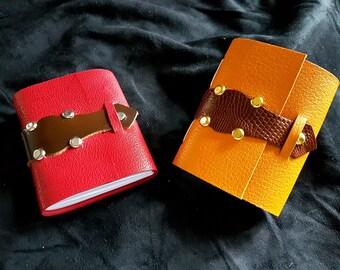 Mini leather notebook