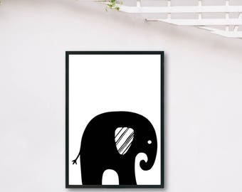 Elephant Dark DIGITAL PRINT