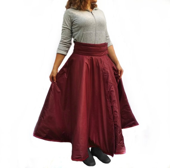 Equestrian skirt for winter horse riding Long insulated skirt on