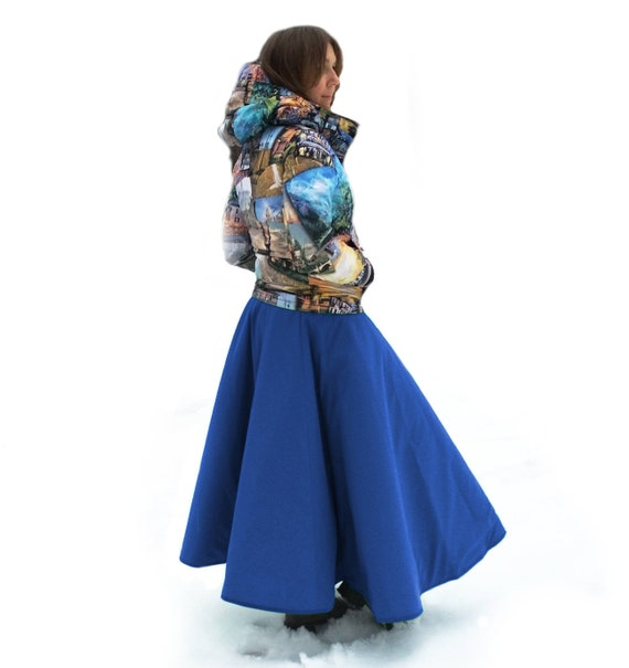 Insulated riding gear for women Thermal skirt for horseback riding on