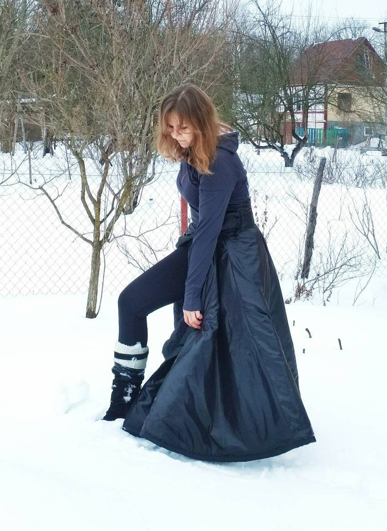 Black maxi riding skirt for riding habit Witchy woman black skirt Maxi  black skirt for winter Riding clothes for her Black magic woman skirt