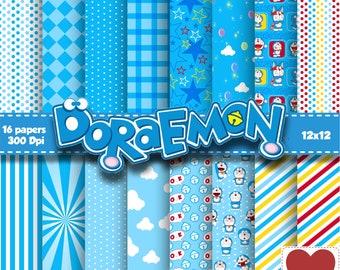 Doraemon Digital Paper Kit Digital Doraemon