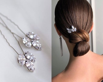 Crystal Hair Pins for bride Wedding hair pins Crystal hair pieces Rhinestone hair pins for wedding