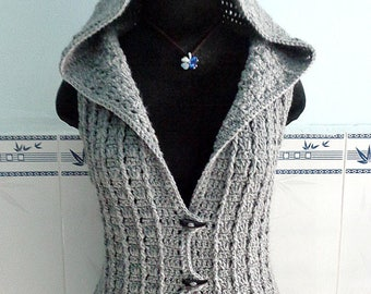 Crocheted Overcast vest - free worldwide shipping