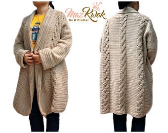 Crocheted Snuggly cardi - free worldwide shipping