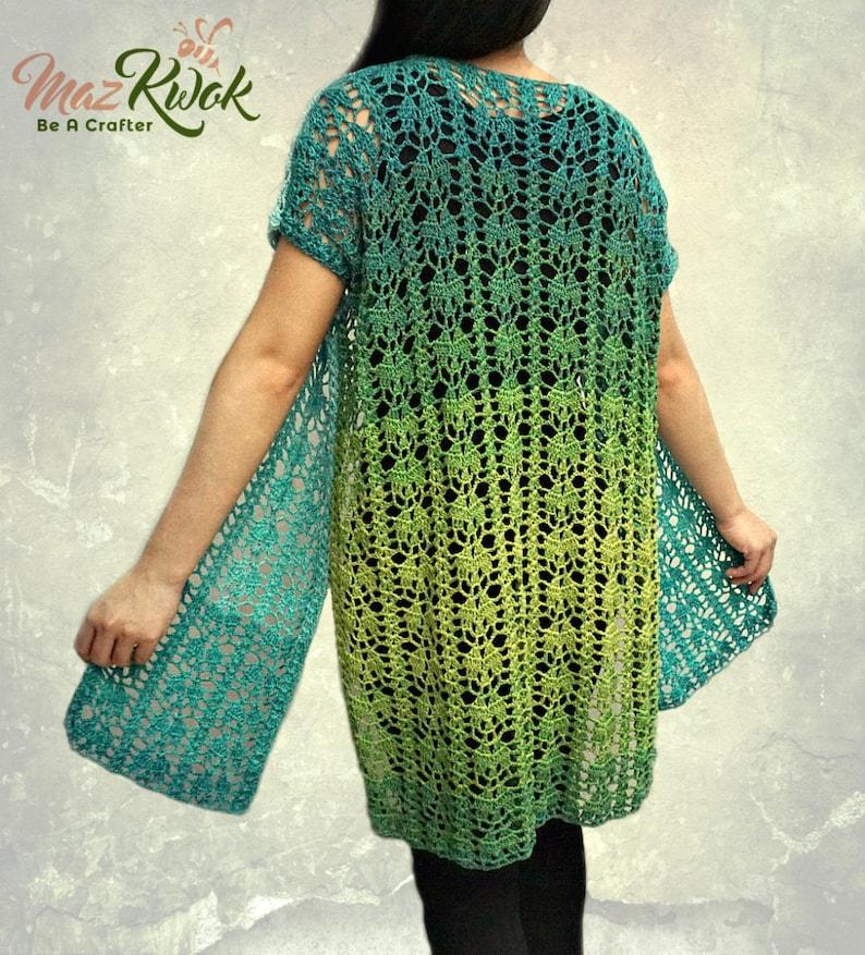 Crocheted Delicate kimono  free worldwide shipping image 0