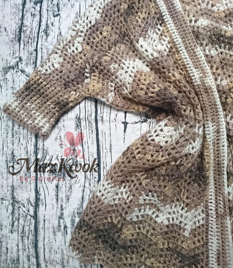 Crocheted Latte cardigan  free worldwide shipping image 0