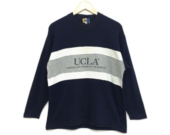 Vintage UCLA University Of California Los Angeles Tshirt Longsleeve Navy  Blue Color Medium Size 33ca53e94df5