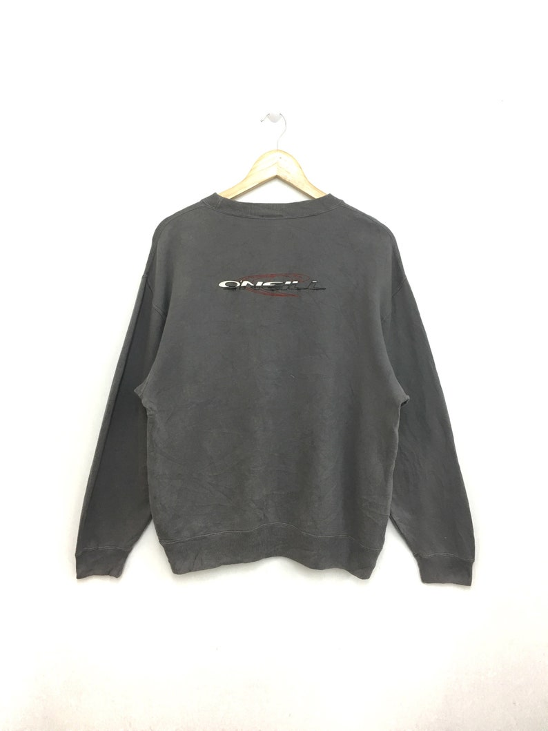 on sale 79a66 df77f Vintage 90s O'NEILL Surfboard Sweatshirt Pullover Jumper Large Size