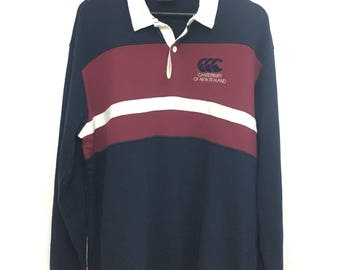 Sale!! Canterbury Of New Zealand Polo Sweatshirt Rugby Large Size