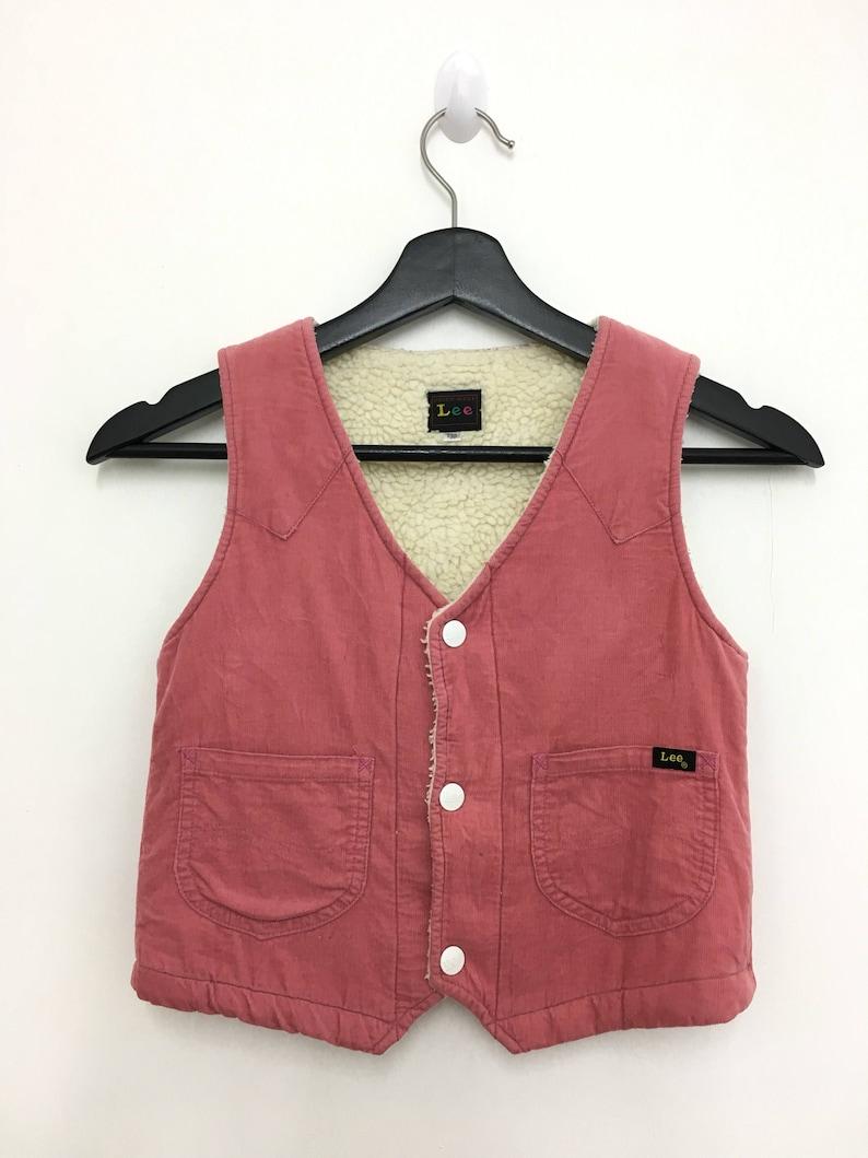 Vintage LEE Vest Corduroy Unisex Kids Size 130 Good Condition image 1