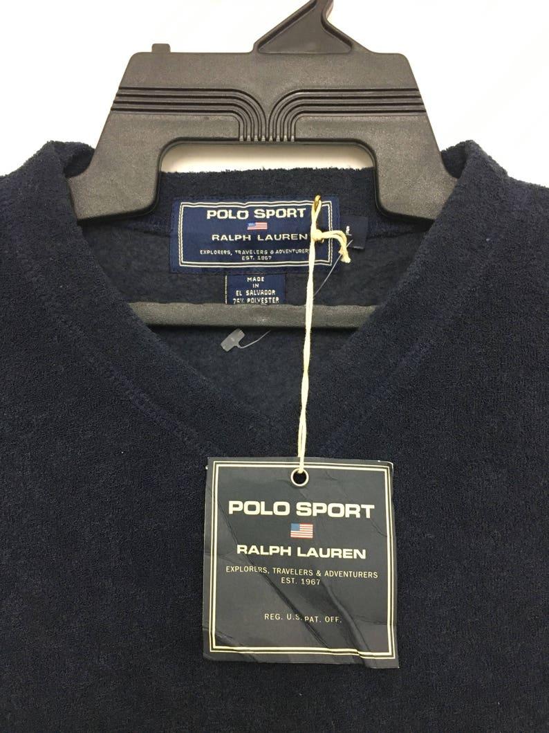 RareDeadstock Lauren Sport Plain On Navy Blue Ralph Tag Large Vintage Polo With Size Sweatshirt 1KlFJc