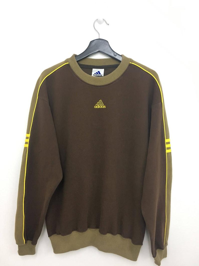 d801035faab46 Sale!! ADIDAS Three Stripes Sweatshirt Pullover Jumper Large Size on Tag