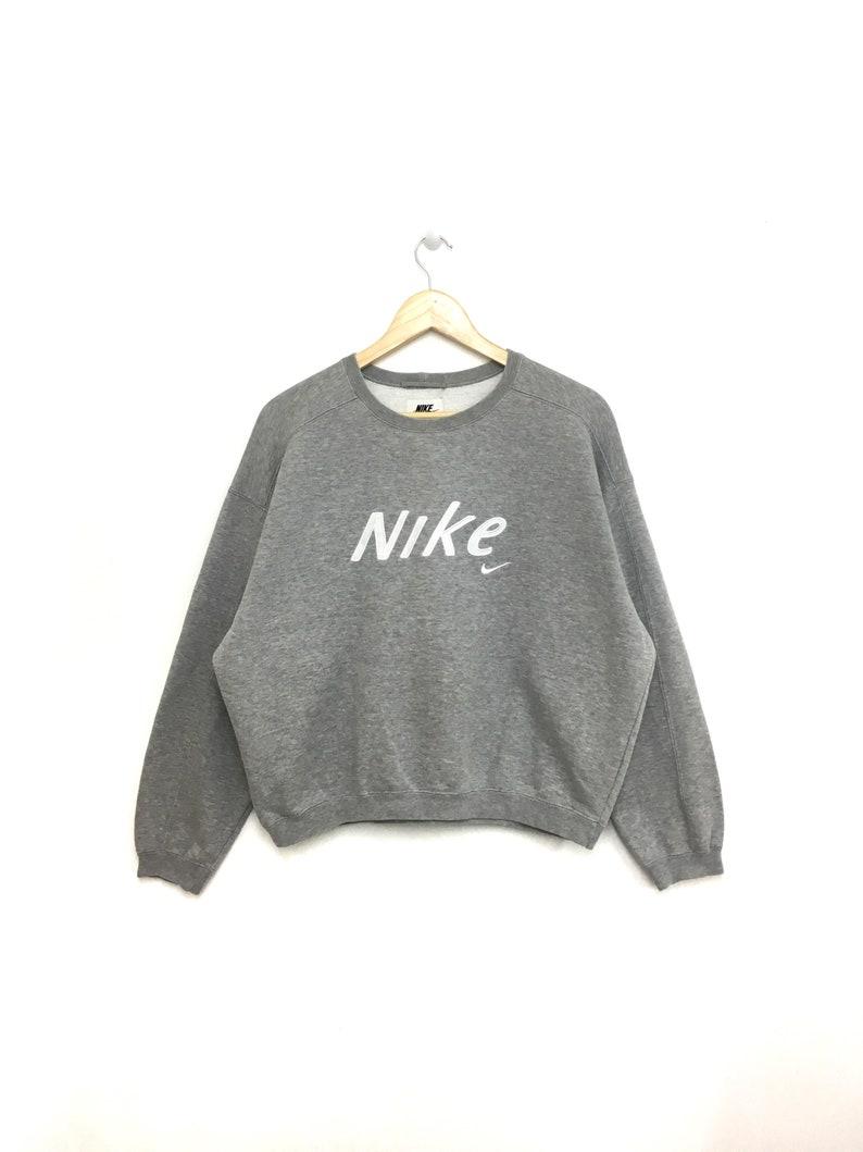42069fbc0430f9 Rare Vintage 90s NIKE Sweatshirt Cropped Top Spellout