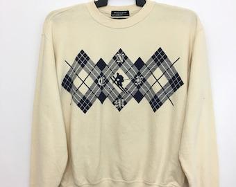 On Sale Vintage NICOLE CLUB Sweatshirt Jumper Playing Ski Medium Size Nice Design