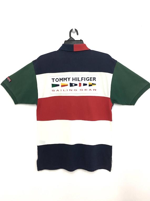 d05e8bbff Rare Vintage TOMMY HILFIGER Sailing Gear Polo Shirt Block | Etsy