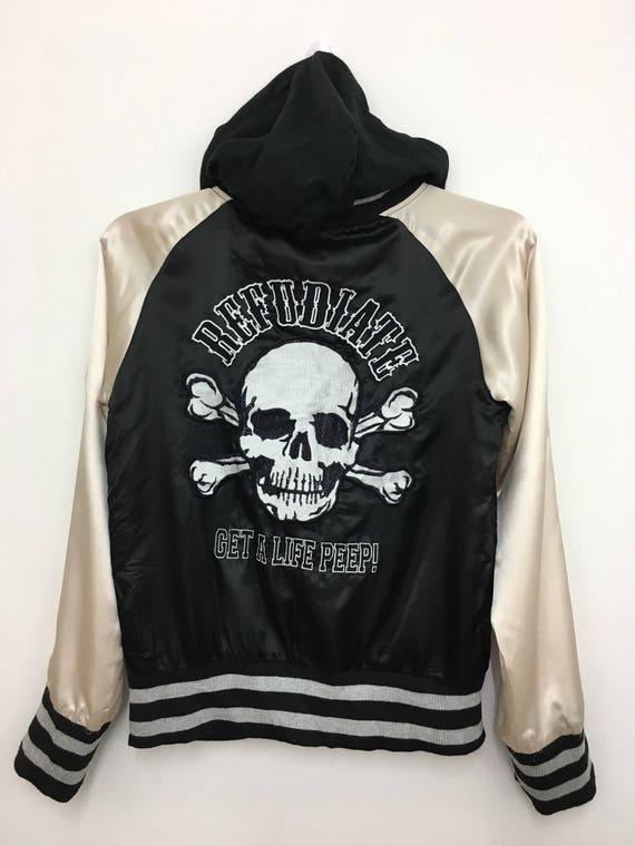 Rare!! Vintage SUKAJAN Souvenir Jacket Hoodie Embr