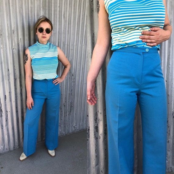 1970s bell bottoms / vintage womens 70s small to e