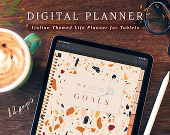Digital Planner with Summer in Tuscany theme for Goodnotes and Notability on iPad and tablets