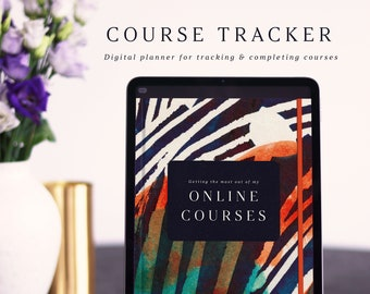 Digital Online Course Tracker for Entrepreneurs. Complete your courses and change the world! For Goodnotes and Notability on iPad & tablets