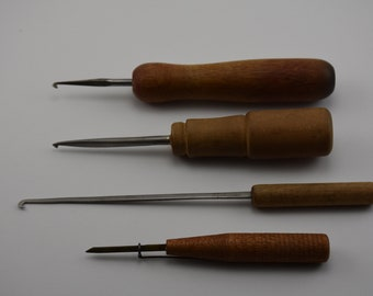 Four Vintage Rug Hooking Tools