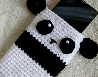 Crochet Panda Cellphone Pouch