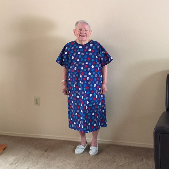 Adult Hospital Gown. FREE SHIPPING. Multiple Colors/Prints | Etsy