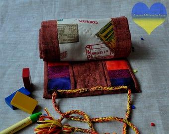 Crayon Keeper, Crayon Tote, Crayon Case, Crayon Gift, Waldorf Crayon Roll, Stockmar Crayon Case, Crayon, Crayon Holder, Crayon Wallet