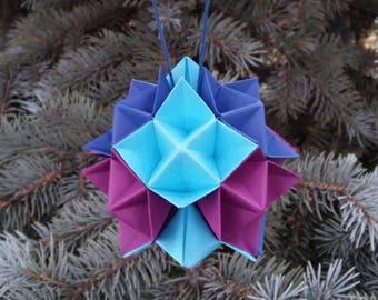 Origami Star Paper, Waldorf  Made, Waldorf Rainbow, Waldorf Decoration, Origami Design, Modular Origami, 3d Origami, Origami, OOAK Origami